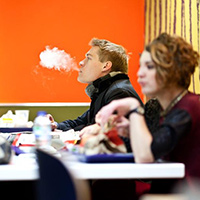 Smoking an Electronic Cigarette in a Restaurant